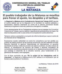 COMUNICADO MARCHA CGT LM