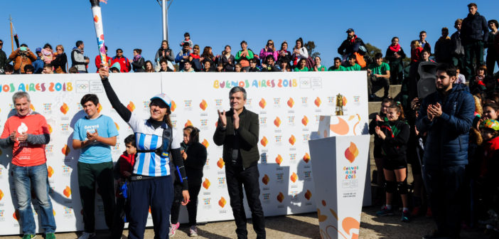 Zabaleta recibió a la antorcha olímpica