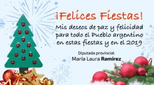 tarjeta felices fiestas 2019 tw
