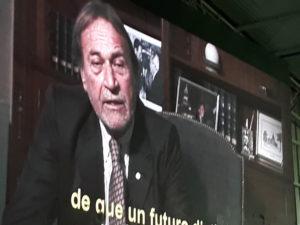 Imagen del video emitido en el acto.