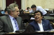 Espinoza junto a Rossi en la seseión por la Ley de Emergencia Alimentaria