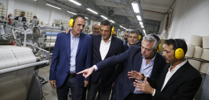Alberto Fernández, Massa y Katopodis recorrieron la industria Kabrilex