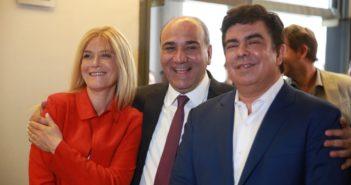 Espinoza con Magario y Manzur (1)