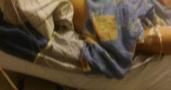 Mirtha en el hospital (fotografía autorizada por sus familiares)