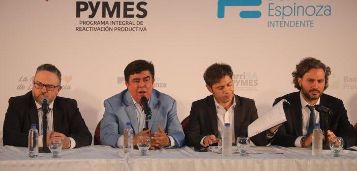 Axel Kicillof y Fernando Espinoza anunciaron el programa ArriBA Pymes en La Matanza 2