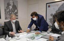 Espinoza con el presidente de la ADIF por el Plan de Desarrollo Estratégico Ferroviario 2