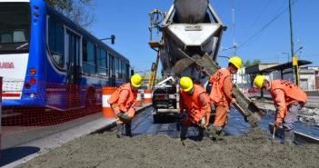 Las nuevas obras de renovación integral se extenderán desde Av. Dr. Ricardo Balbín hasta la calle Eva Perón.