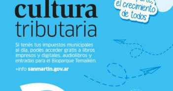 El Programa Cultura Tributaria continúa en enero con todos los beneficios para las vecinas y los vecinos que no registran deudas en la Tasa ALSMI o Automotor.